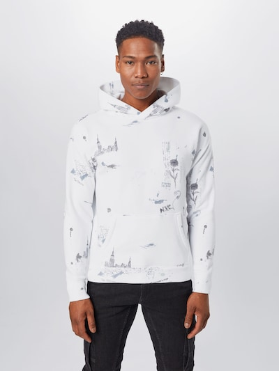 Abercrombie & Fitch Sweatshirt in Anthracite / White: Frontal view