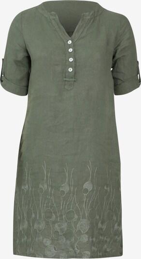 Paprika Kleid in khaki / weiß, Produktansicht