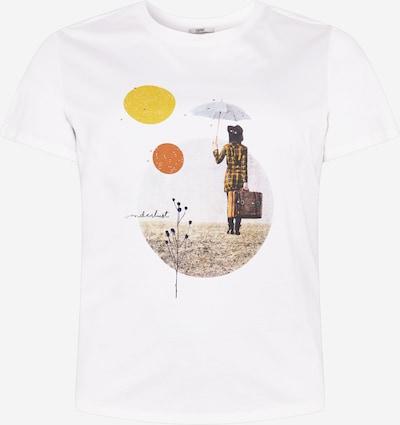Esprit Curves Shirt in braun / dunkelgelb / dunkelorange / schwarz / offwhite, Produktansicht