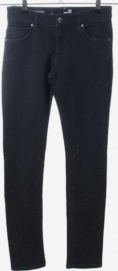 Love Moschino Skinny Jeans in 25-26 in schwarz / silber: Frontalansicht