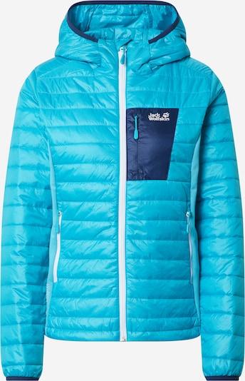 JACK WOLFSKIN Sportovní bunda 'ROUTEBURN' - aqua modrá / tmavě modrá, Produkt