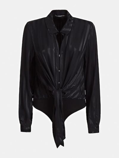 GUESS GESTREIFTE BODYBLUSE in schwarz, Produktansicht