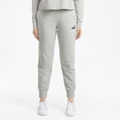 PUMA Sporthose in graumeliert / schwarz: Frontalansicht