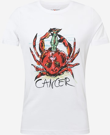 LOOKS by Wolfgang Joop Shirt 'Cancer' in Weiß