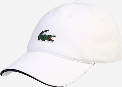 LACOSTE Pet in de kleur Groen / Wit, Productweergave