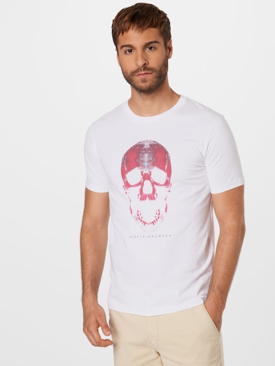 Maglietta 'Skull' EINSTEIN & NEWTON di colore grigio / pitaya / bianco: Vista frontale