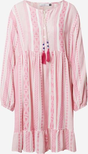 Zwillingsherz Kleid 'Nala' in pink / weiß, Produktansicht