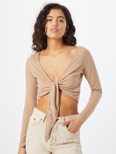 Miss Selfridge Shirt in camel, Modelansicht