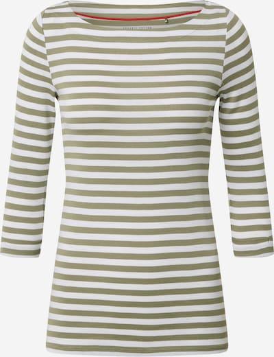 ESPRIT T-shirt en kaki / blanc, Vue avec produit