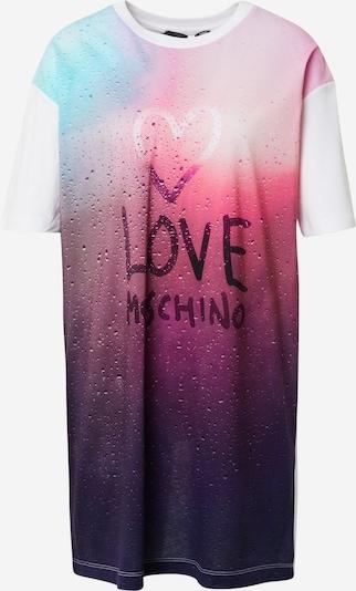 Love Moschino Jurk in de kleur Aubergine / Donkerlila / Gemengde kleuren / Lichtroze / Wit, Productweergave