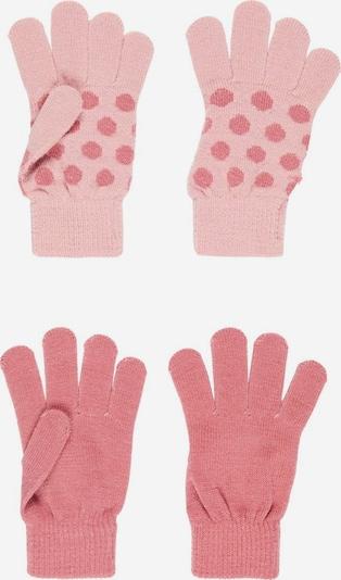 NAME IT Gants 'Magic' en rose clair / rouge pastel, Vue avec produit