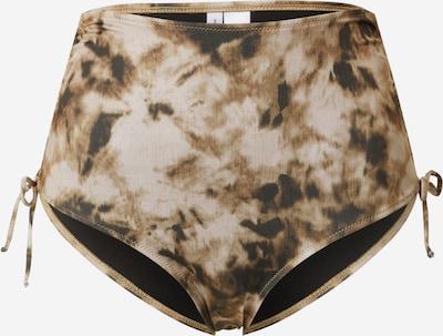 Samsoe Samsoe Bas de bikini 'Gytea' en brun foncé / marron chiné / gris clair / noir, Vue avec produit