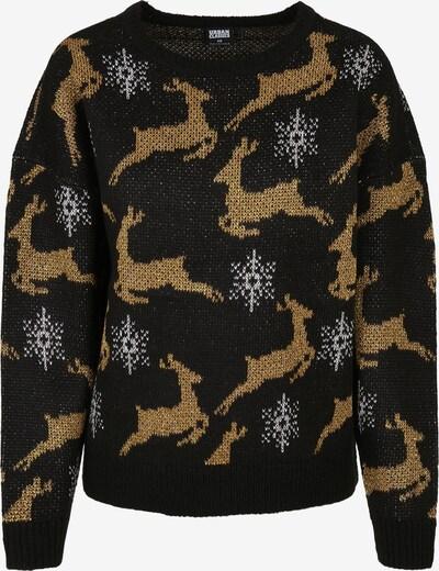 Urban Classics Pullover in hellbraun / schwarz / weiß, Produktansicht