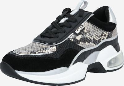Karl Lagerfeld Baskets basses 'VENTURA' en gris / noir / blanc, Vue avec produit