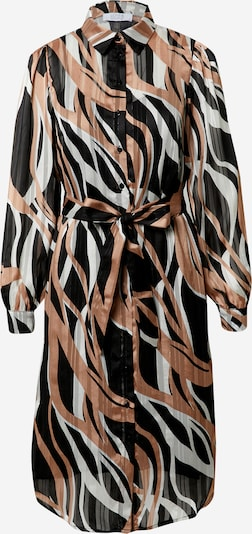 Love & Divine Robe-chemise en beige clair / noir / blanc, Vue avec produit