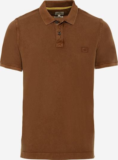CAMEL ACTIVE Kurzarm Poloshirt aus reiner Baumwolle in braun, Produktansicht