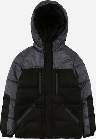 Jack & Jones Junior Jacke 'BOLT' in graumeliert / schwarz, Produktansicht