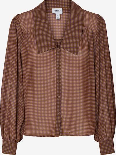 Vero Moda Aware Bluse 'Realistic in braun / oliv / lila, Produktansicht