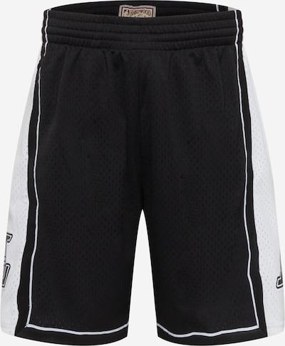 Mitchell & Ness Hose in schwarz / weiß, Produktansicht