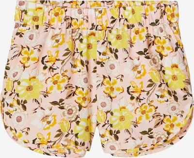 NAME IT Shorts in gelb / rosa: Frontalansicht