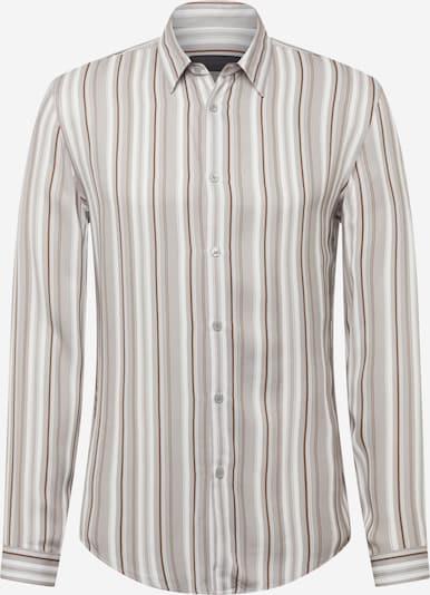 DRYKORN Hemd 'RUBEN' in braun / cappuccino / weiß, Produktansicht