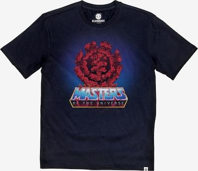 ELEMENT T-Shirt in blau / rot / schwarz: Frontalansicht