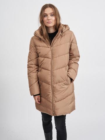 VILA Between-seasons coat 'Adaya' in Brown