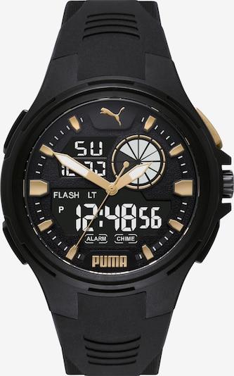 PUMA Uhr in gold / schwarz / weiß, Produktansicht