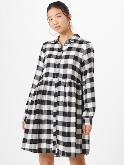 ONLY Blusenkleid in schwarz / weiß, Modelansicht