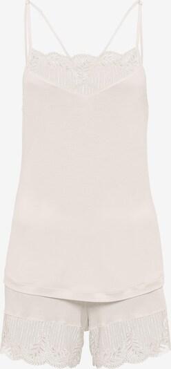 Hanro Pyjama ' Irini ' en rosé / blanc cassé, Vue avec produit