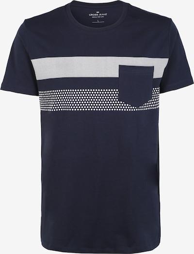 Cross Jeans T-Shirt in dunkelblau / graumeliert, Produktansicht