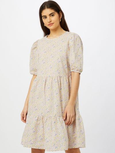 SISTERS POINT Kleid 'VILKA' in beige / rauchblau / gelb / puder, Modelansicht