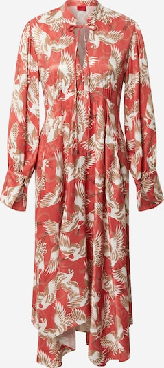HUGO Dress 'Kaflore' in Light brown / Pastel red / White, Item view