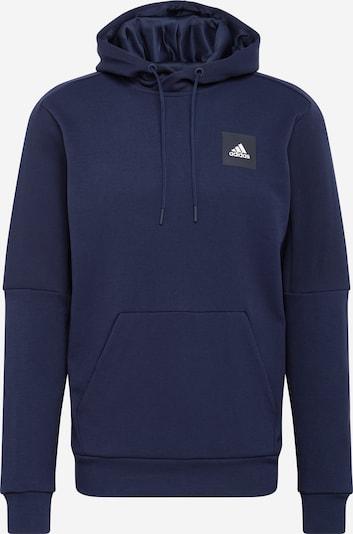 ADIDAS PERFORMANCE Спортен блузон с качулка 'STADIUM' в синьо / бяло, Преглед на продукта