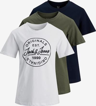 Jack & Jones Junior T-Shirt in blau / grün / schwarz / weiß, Produktansicht