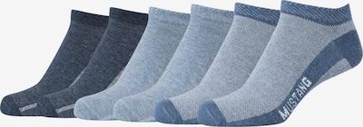 MUSTANG Sneakersocken 'Charlotte' im 6er-Pack in hellblau / dunkelblau / stone, Produktansicht