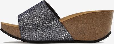 Saboți LASCANA pe gri metalic / argintiu, Vizualizare produs
