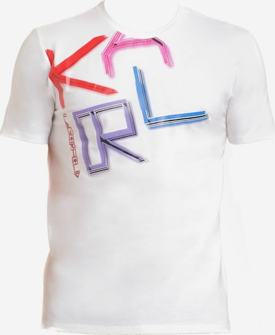 Karl Lagerfeld Shirt in blau / lila / pink, Produktansicht