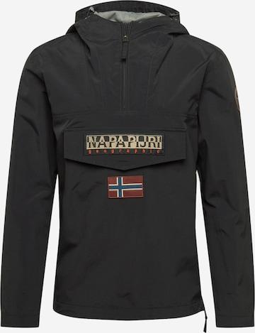 NAPAPIJRI Between-Season Jacket 'Rainforest' in Black