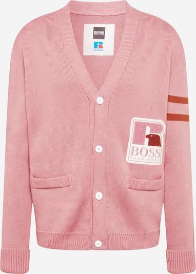 BOSS Casual Плетена жилетка 'Krussel' в антично розово / ръждиво червено / бяло, Преглед на продукта