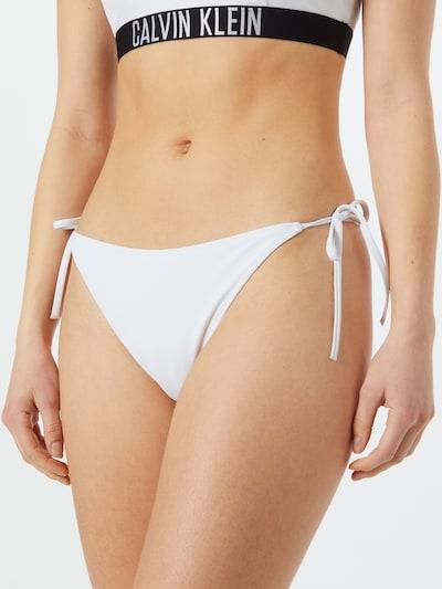 Calvin Klein Swimwear Braga de bikini en negro / blanco, Vista del modelo