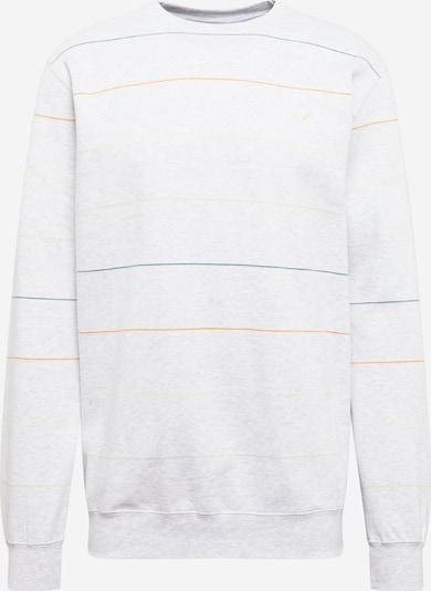 Cleptomanicx Sweatshirt in petrol / orange / hellorange / weißmeliert, Produktansicht