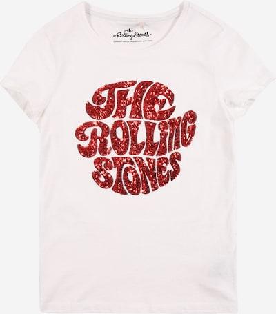KIDS ONLY Shirt 'ROLLING LIFE' in weinrot / weiß, Produktansicht