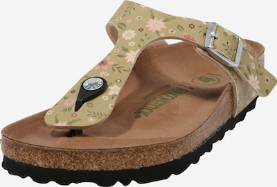 BIRKENSTOCK T-bar sandals 'Gizeh' in green / pink, Item view