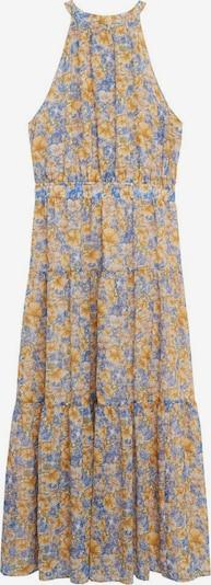 MANGO Robe d'été 'Purple' en bleu fumé / bleu pastel / marron / jaune pastel, Vue avec produit