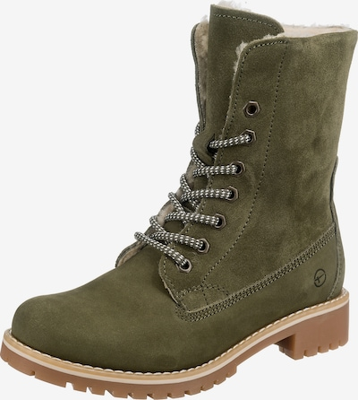 TAMARIS Lace-Up Ankle Boots in Olive, Item view