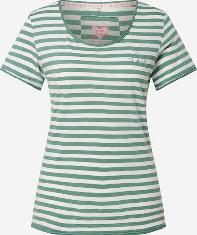 Tricou 'Cia' LIEBLINGSSTÜCK pe verde / alb, Vizualizare produs