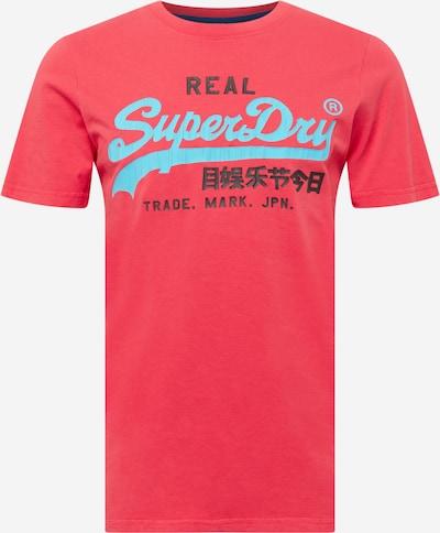 Superdry Shirt in Light blue / Melon / Black, Item view