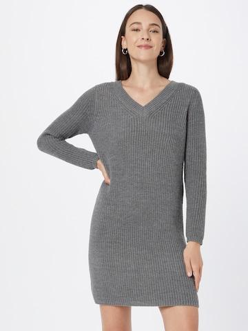 ONLY Gebreide jurk 'Melton' in Grijs