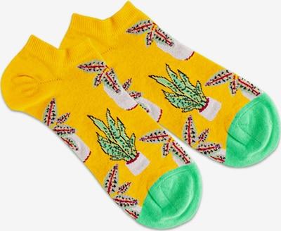 DillySocks Socken 'Pottery' in gelb / limette / rot / weiß, Produktansicht